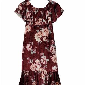LuLaRoe Foral Velour Cici Flounce Dress NWT